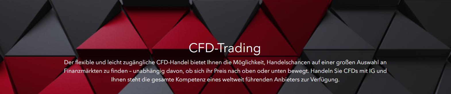 IG bietet flexiblen & leicht zugänglichen CFD Handel