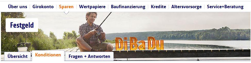 ING-DiBa Startseite zum Festgeld