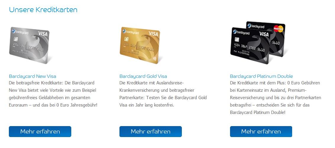 Barclaycard bringt auslandstaugliche Kreditkarten mit