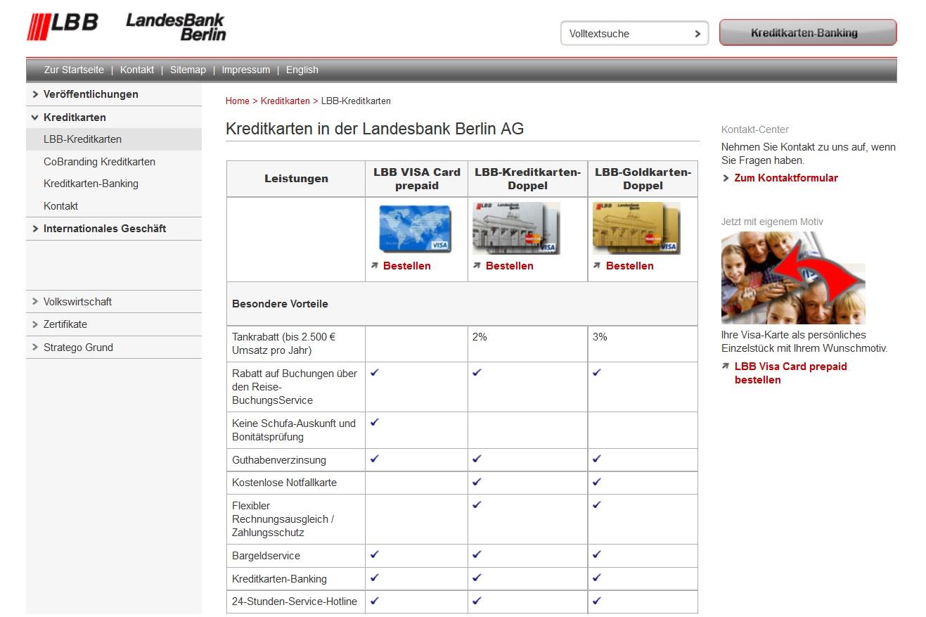 Die Landesbank Berlin bietet eine attraktive Prepaid Kreditkarte