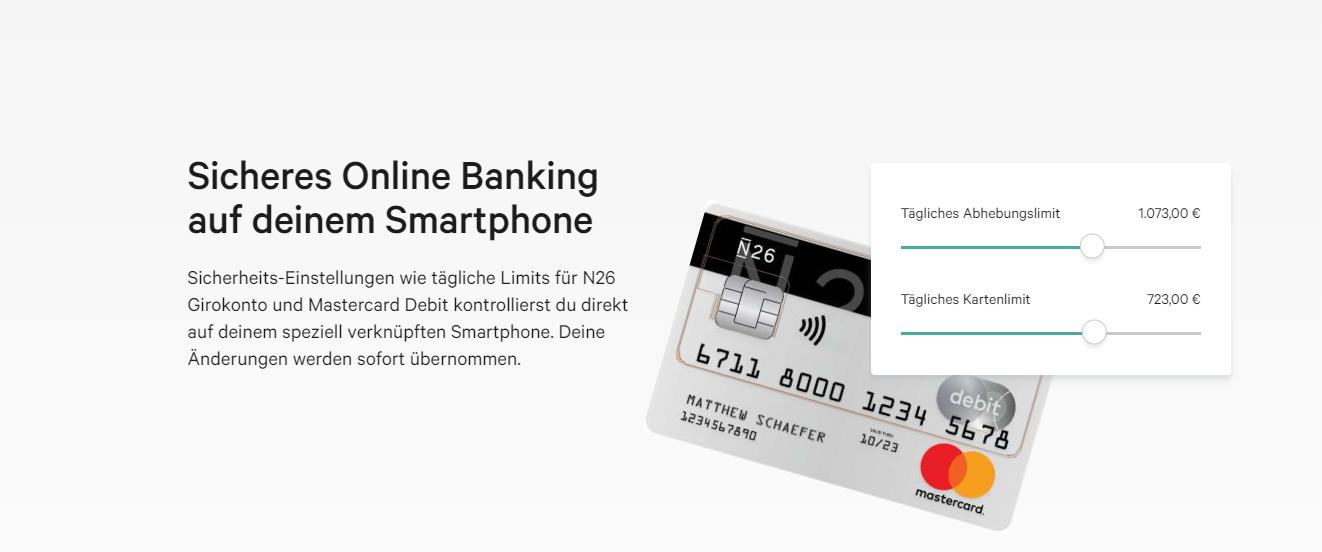N26 bietet sicheres Online Banking für Unterwegs