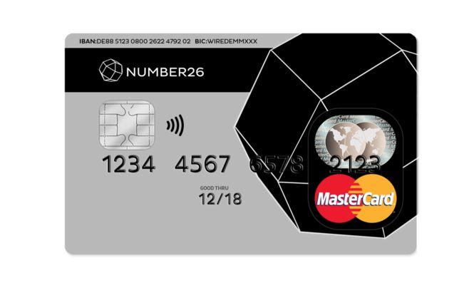 Auch die N26 Bank bietet eine kostenlose Kreditkarte an