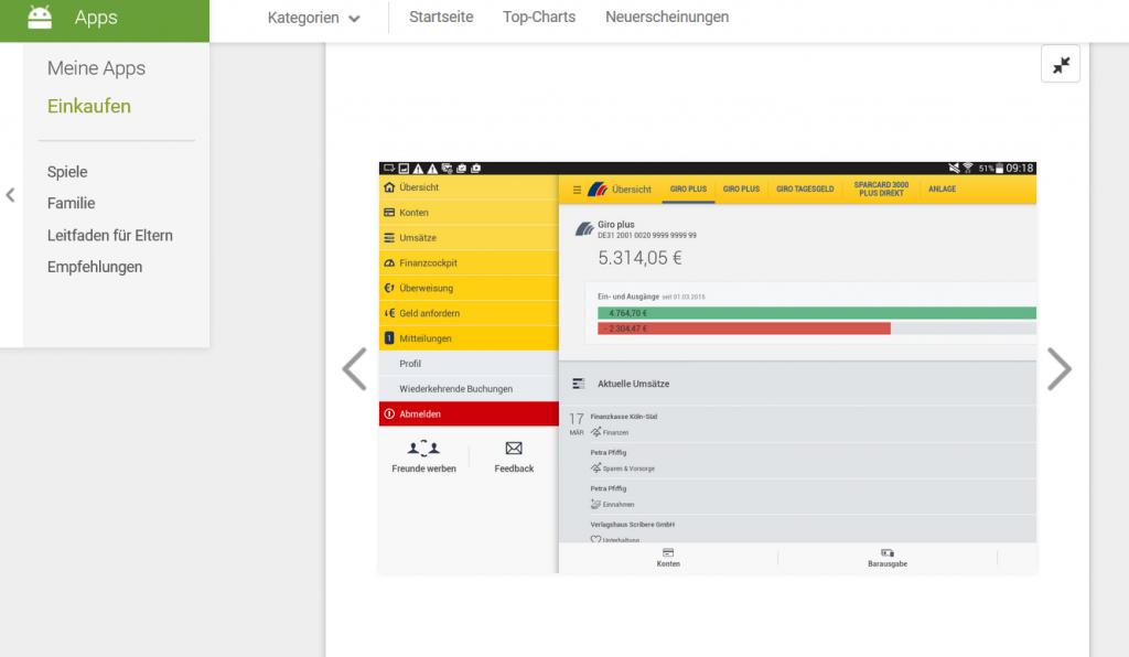 Die Postbank App für Android