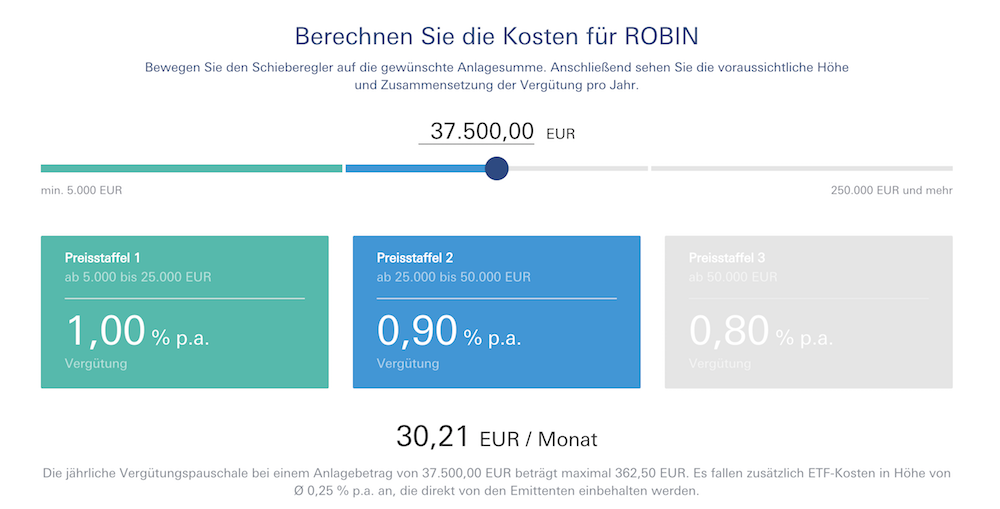 ROBIN Kostenrechner