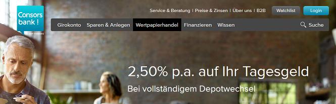 Depotwechsel bei Consorsbank