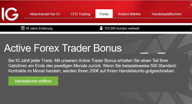 IG Forex Bonus