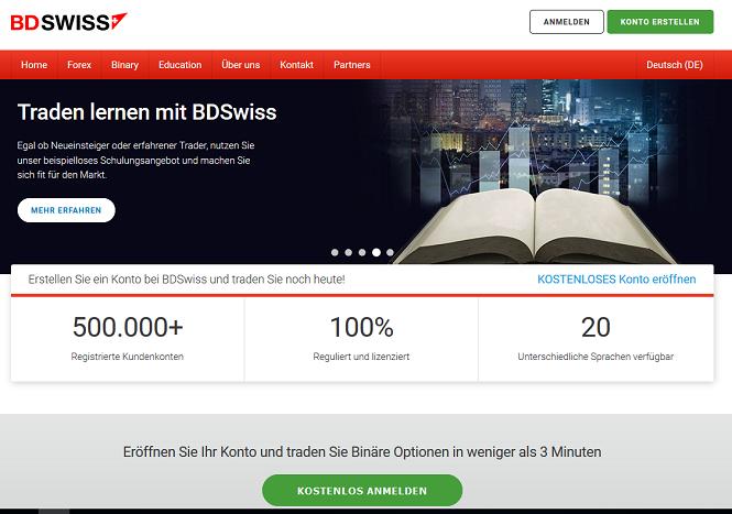 BDSwiss Webseite