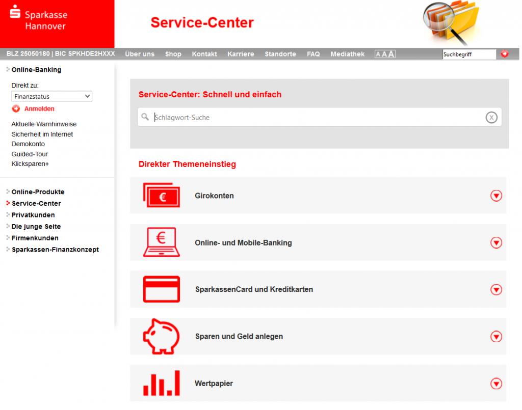 Das Service-Center liefert keine Infos zum Privatkredit