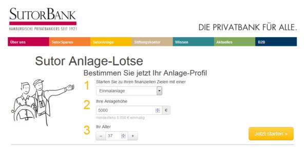 Sutor Bank Anlage-Lotse