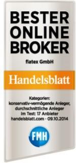 Testsiegel - Bester Online-Broker Handelsblatt