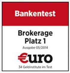 Testsiegel - Brokerage Platz 1 Ôé¼uro