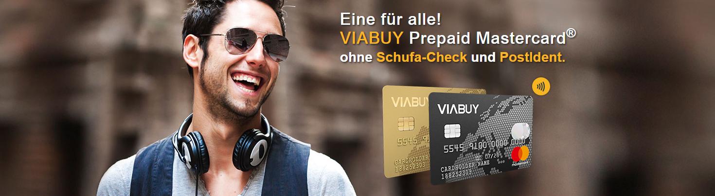 VIABUY bietet die Mastercard ohne Schufa und PostIdent an