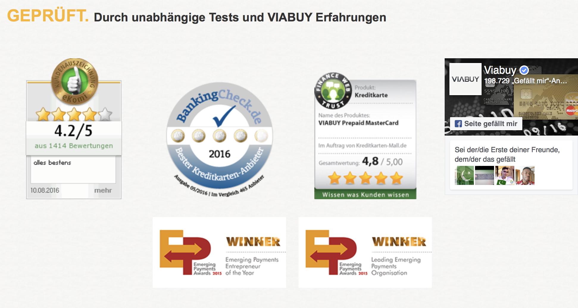 Unabhängige Tests und Erfahrungen sprechen für VIABUY.