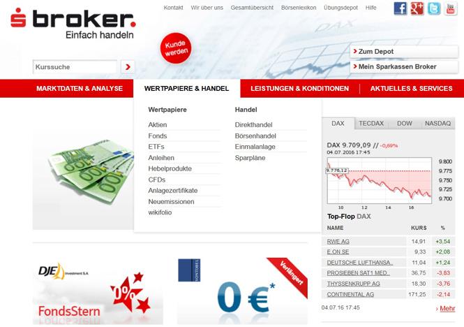 Die Webseite des Anbieters sBroker bietet viele nützliche Informationen