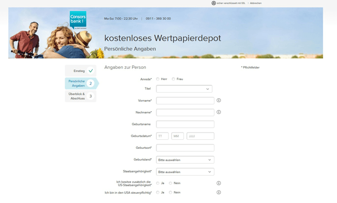 Consorsbank Depoteröffnung