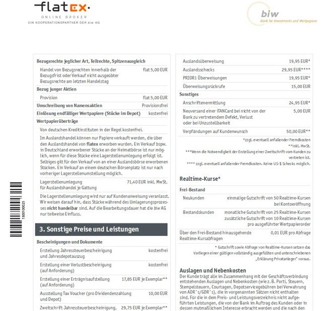 Flatex Depotverwaltung