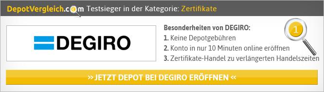 Zertifikate Broker Vergleich von Depotvergleich.com