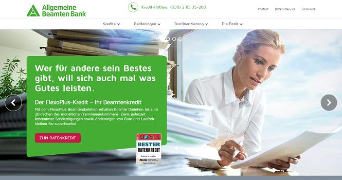 ABK Bank Webseite