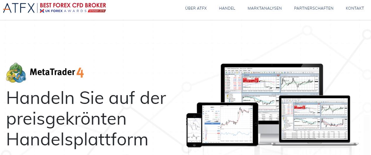 Handeln Sie bei ATFX mit dem MetaTrader 4