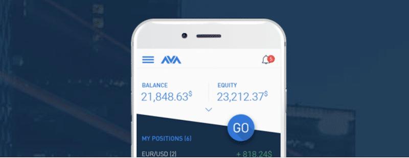 Mobiler Handel via App bei AvaTrade