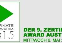 Zertifikate Award Austria 2015