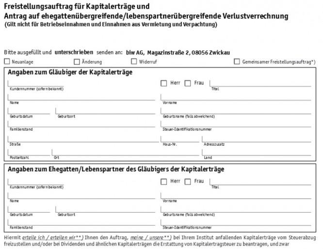 flatex Freistellungsauftrag gegen Steuerabzüge