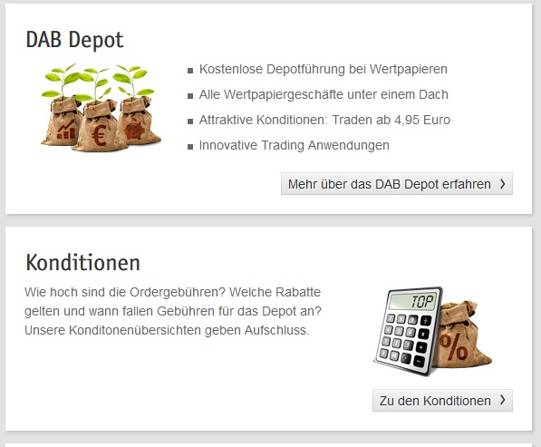 Das Depotangebot der DAB Bank