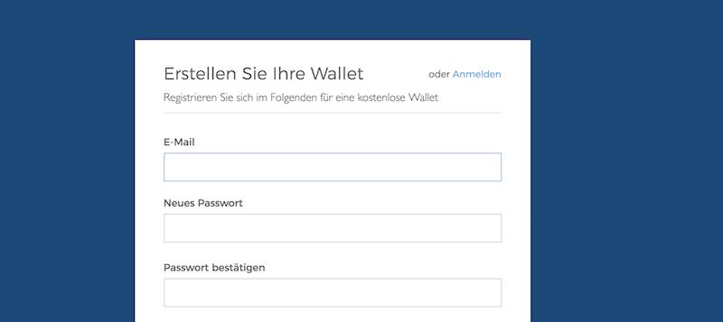 Blockchain.info Wallet eröffnen