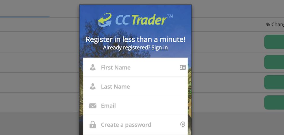ccTrader Kontoeröffnung