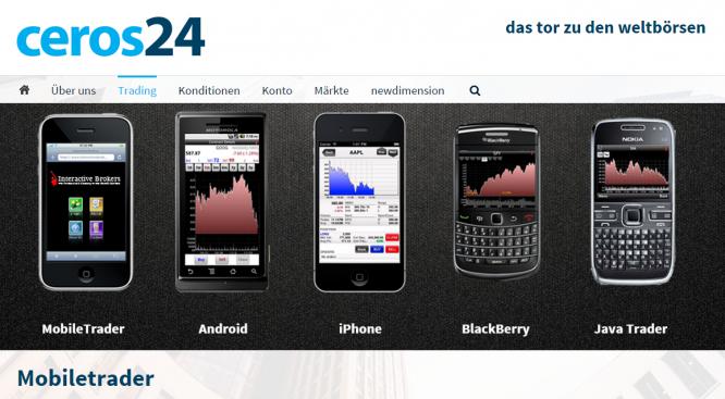 Der Mobiletrader von ceros24