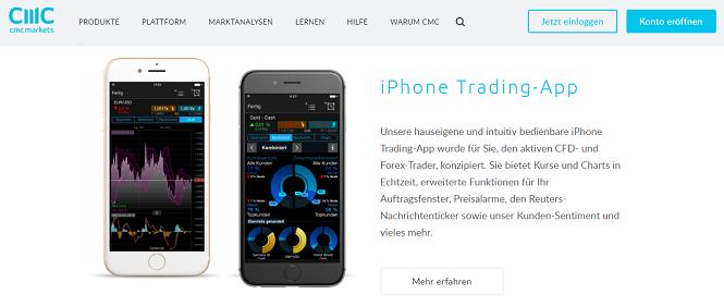 CMC Markets App iOS und Android
