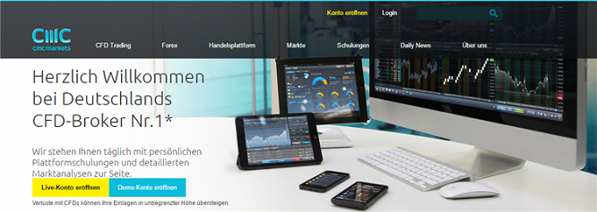 CMC Markets Startseite