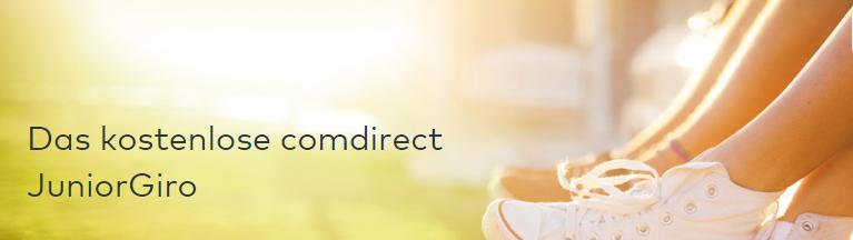 comdirect bietet auch ein Junior Girokonto an