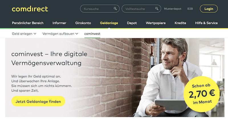 cominvest Erfahrungen von Depotvergleich.com