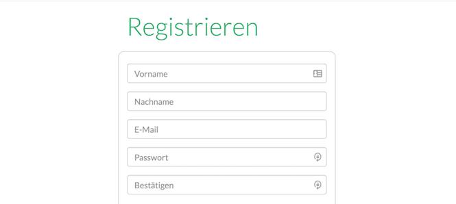 Companisto Registrierung