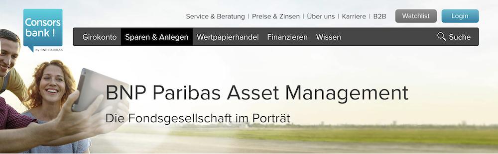 Consorsbank nachhaltige Fonds BNP Paribas