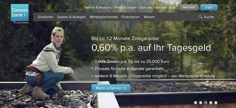 Consorsbank Webseite