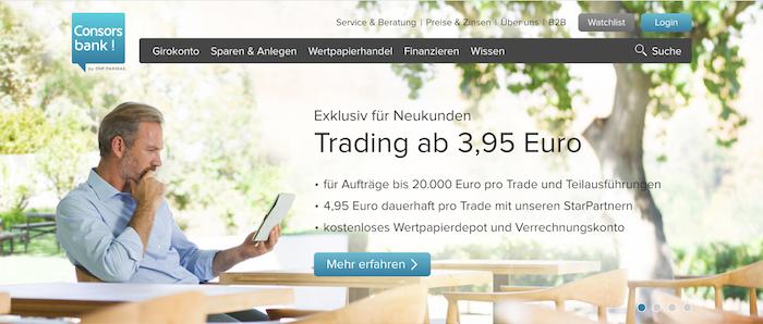 Consorsbank Homepage
