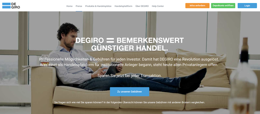 Bemerkenswert günstiger Handel ist ein Markenzeichen des Online-Brokers DEGIRO