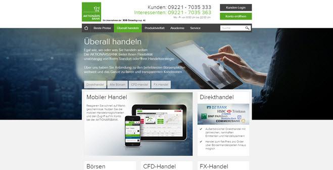 Aktionärsbank auch mobil nutzbar