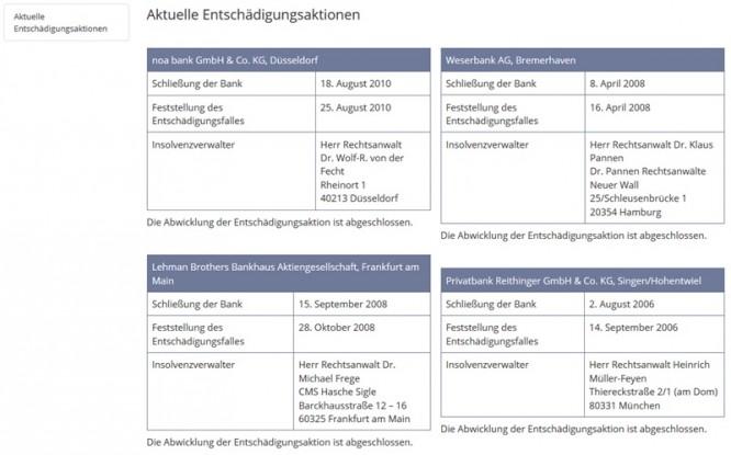 Entschädigungsaktionen der EdB GmbH