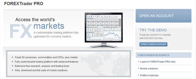 Als Handelsplattform bietet Forex.com den FOREXTraderPro