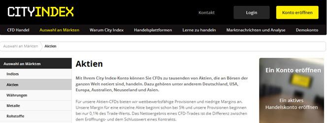 Die Gebühren bei City Index