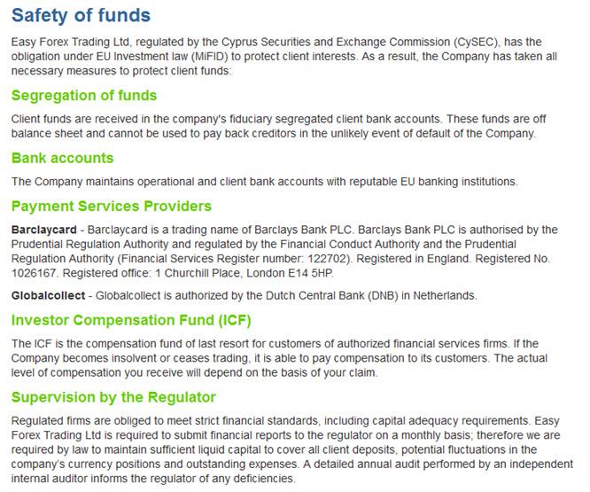 easy-forex wird durch die australische Wertpapierbehörde reguliert