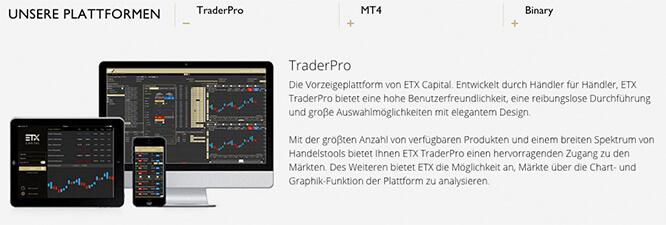ETX Capital Test Handelsplattform