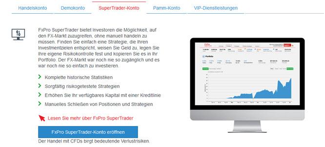 Das SuperTrader-Konto bietet viele Möglichkeiten
