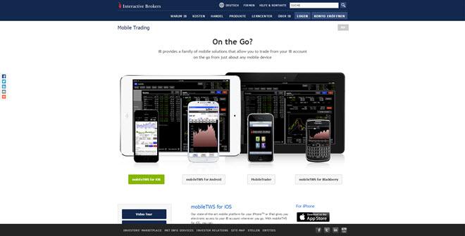 Interactive Brokers mobil nutzbar