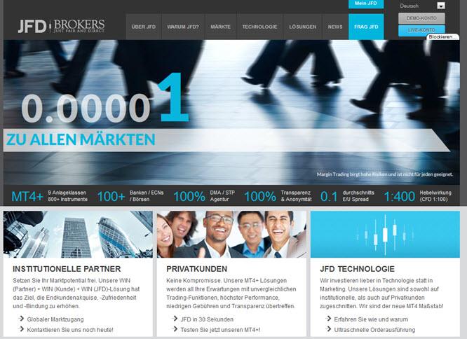 JFD Brokers Vorteile im Überblick