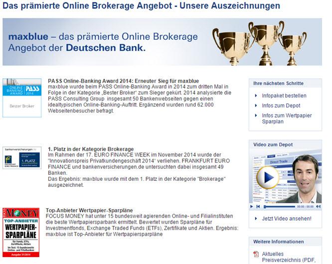 maxblue erhielt bereits mehrfach Auszeichnungen.