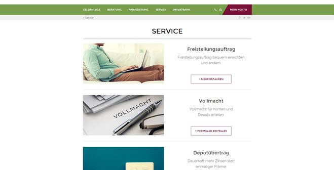 Ein übersichtlicher Service bei der Merkur Bank